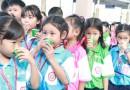 ไมโลจัดกิจกรรมแจกชงชิมเครื่องดื่มไมโลและกิจกรรมปลูกสำนึกให้นักเรียนรักการเล่นกีฬาและออกกำลังกาย